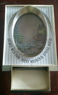 Vintage  Coors Waterfall Bar Sign