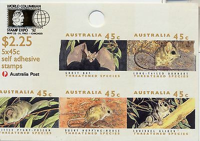 Stamps Australia Threatened Species $2.25 Chicago sheetlet error imperforated