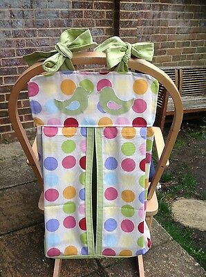 Cushi cots Handmade Nappy/diaper stacker polka dots new