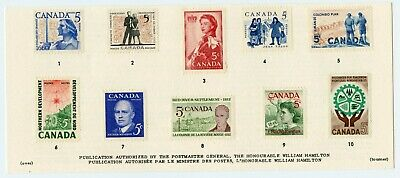 Weeda Canada VF Condition 1962 Souvenir Card #4, card only no envelope CV $10