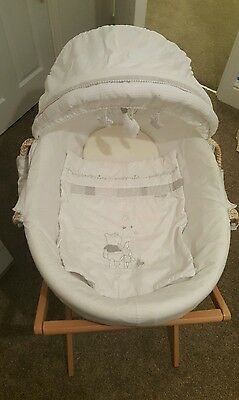 Winnie the pooh starry nights moses basket and stand