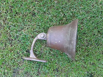 vintage brass bell with hanger
