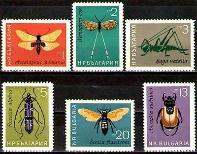 Bulgaria 1964 Insects Set MNH SG1440-5