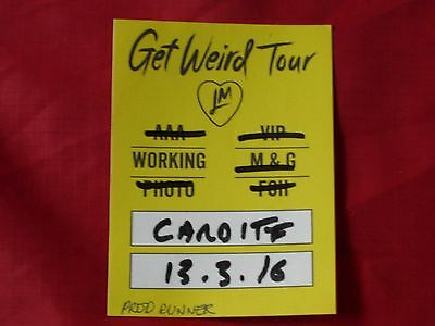 Little Mix Backstage Local Crew Sticky Pass 2016 Tour Unused Cardiff Show