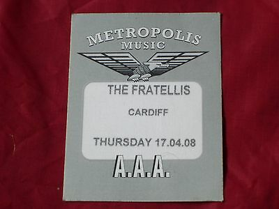 The Fratellis Backstage Local Crew Pass Stick On Unused 2008 Tour Cardiff Show
