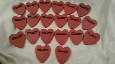 Vintage CARLSON DOLLS Heart Shaped Doll Stands w/ Elastic Lot of 20