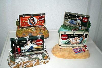 Coca Cola Musical Bank Set Four Seasons! Collectible # CB03012,03721,01020,05768