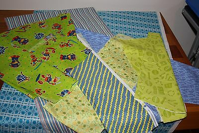 Bulk lot of Fabric - Offcuts - Blue and Green Tones