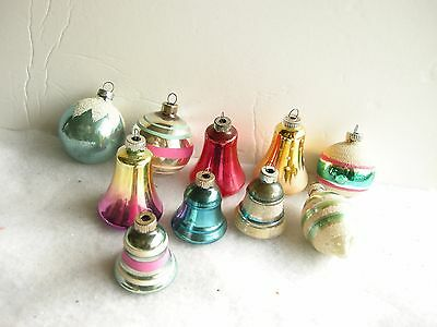 Vintage Christmas Ornaments - Shiny Brite Bells & Spheres - 1930's