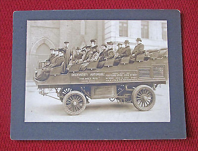 Vintage 1905 New York City Sight-Seeing Automobile Sepia Tone Cabinet Photo
