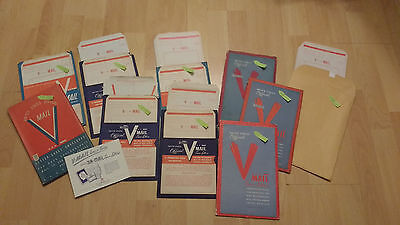 HUGE Lot of WWII V Mail Letters Unused V-Mail 144 Pieces!