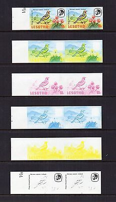 Lesotho 1981 Birds 60s Imperf Proofs in pairs SG509 MNH