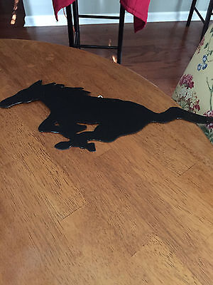MUSTANG,RUNNING HORSE,  Cut OUT WALL ART  Made of   HEAVY GAGE METAL