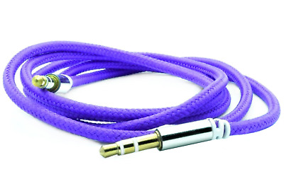 Audio Lead For Headphone Aux MP3 iPod Mobile 3.5mm Jack Plug Cable Purple. 0178