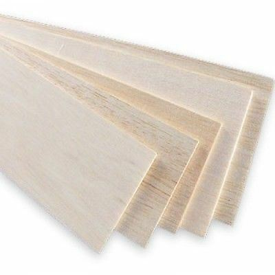 10x Balsa Wood Board 31x10cm, 4mm thick. Models and crafts