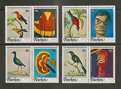 Penrhyn Island 1978 Birds and Artefacts set MNH