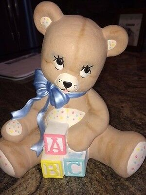 Baby Room Statue Figurine - Bear with ABC Blocks