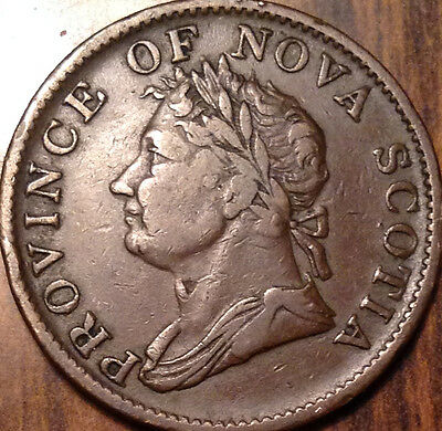 1832 Nova Scotia Half Penny Token In Superb High Grade !!