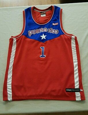 Puerto Rico And1 Men's Large VERY RARE vintage sewn basketball jersey