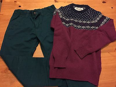 Boys jeans and top bundle aged 11yrs Boden/Next