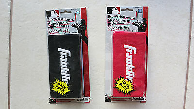 """2 packs Franklin Pro Wristbands 6"""" RED & BLACK (Pair pack) No 3125 P6 wristband"""