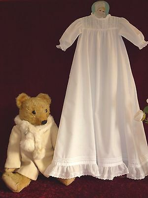 Pretty Vintage Cotton Embroidered Baby Gown Doll/Bear?.