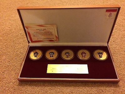 Limited Edition Beijing 2008 Olympic Mascots Medallion Coin Set