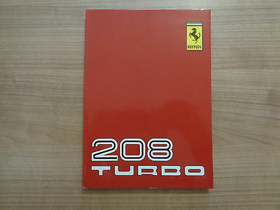 Ferrari 208 Turbo Owners Handbook/Manual