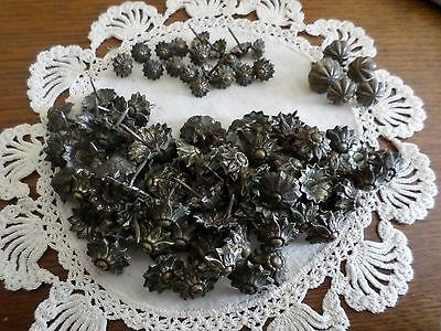 Antique upholstery tacks~ Lot of 95 Tacks~From Antique Upholstered Furniture~