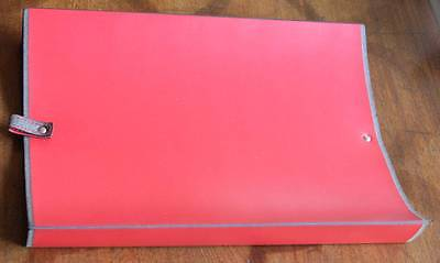 PINETTI Leather Desk Tray Document Holder RED New in Box Made in Italy Italian