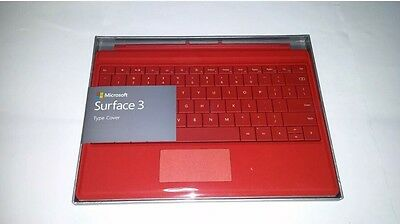 Microsoft Surface 3 Keyboard Type Cover - Red New, Sealed UK Layout - A7Z-00015