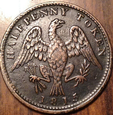 1815 Lower Canada Half Penny Token Spread Eagle Cw. In Outstanding Condition !!!
