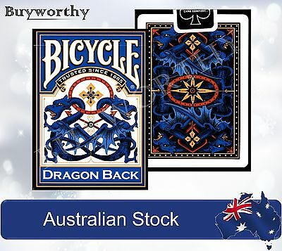 Dragon Back BLUE Edition Poker Playing Cards Deck Bicycle Brand New made in USA