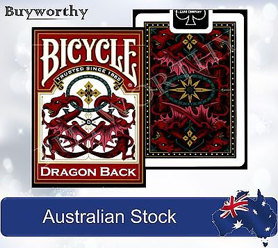 Dragon Back Red BICYCLE Premium Poker Playing Cards Deck  Brand New made in USA