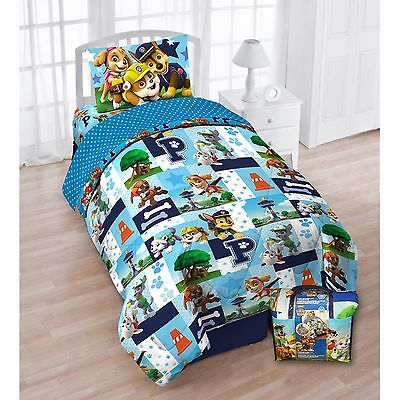 paw patrol twin bed sheet set bedding for kids boys pillow bedroom