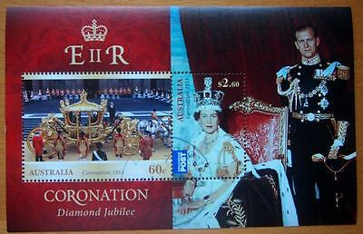 100 X Australian  Stamp Mini Sheets Cancelled To Order - Queen's Diamond Jubilee
