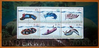100 X Australian Stamp Mini Sheets Cancelled To Order -Underwater World