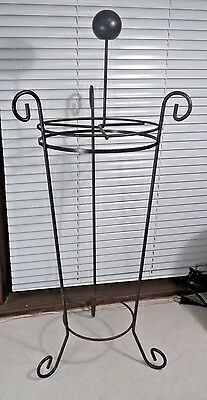Vintage Umbrella Stand Metal Mid Century Modern Atomic Cone Rod Shape Stand