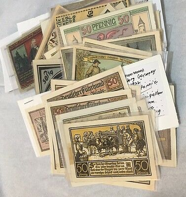 German Notgeld Collection Mixed lot of 75+ pieces of Uncirculated paper money