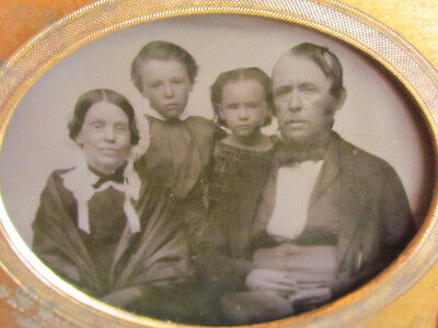 small victorian family ambrotype photograph