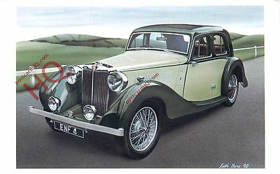Postcard: MG Two Litre SA (1938) From A Keith Hume Watercolour (Repro)