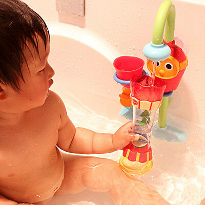 Kids Child Baby Bath Toy Scoop Water Rotating Cylinder Flow Observation Cup Gift