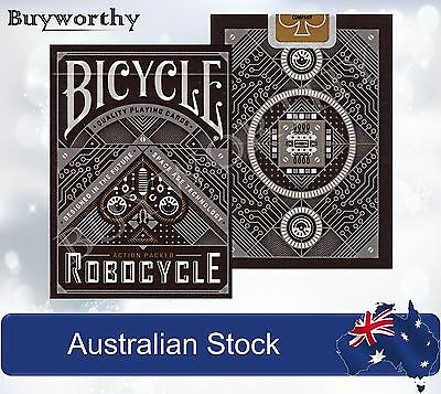 RoboCycle Robotic Poker Playing Cards Deck ~ Black Edition Brand New made in USA