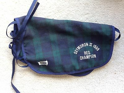 Rare Retired Breyer Horse Green Plaid Traditional Show Cooler Blanket Oxymoron
