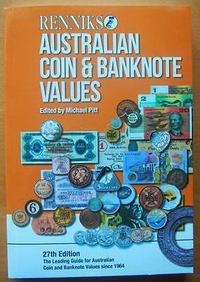 Renniks Australia Coin & Banknote Values Book- Soft Cover 27Th Edition