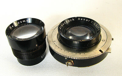 Rolleiflex Xenar 3.5/75mm In Synchro-Compur Shutter+View Lens For Repair/Parts