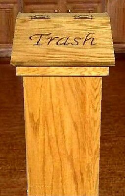 Kitchen Trash Cans Wood With Free Personalized Lid Makes A Great Gift