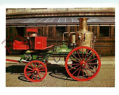 Postcard: STEAM FIRE ENGINE, 1863 [SCIENCE MUSEUM]