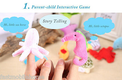 10Pcs Finger Puppets Cloth Plush Doll Baby Cartoon Animal Educational Hand Toy