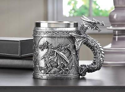 Medieval Serpant MUG Handle Dragon Celtic King Castle Mythical Fantasy Figure